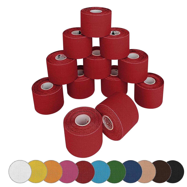 BB Sport 12 rotoli di nastro kinesiologico 5 m x 5,0 in diversi colori Colore:verde