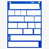 Magnetic Pocket Chart with 10 Dry Erase Cards for