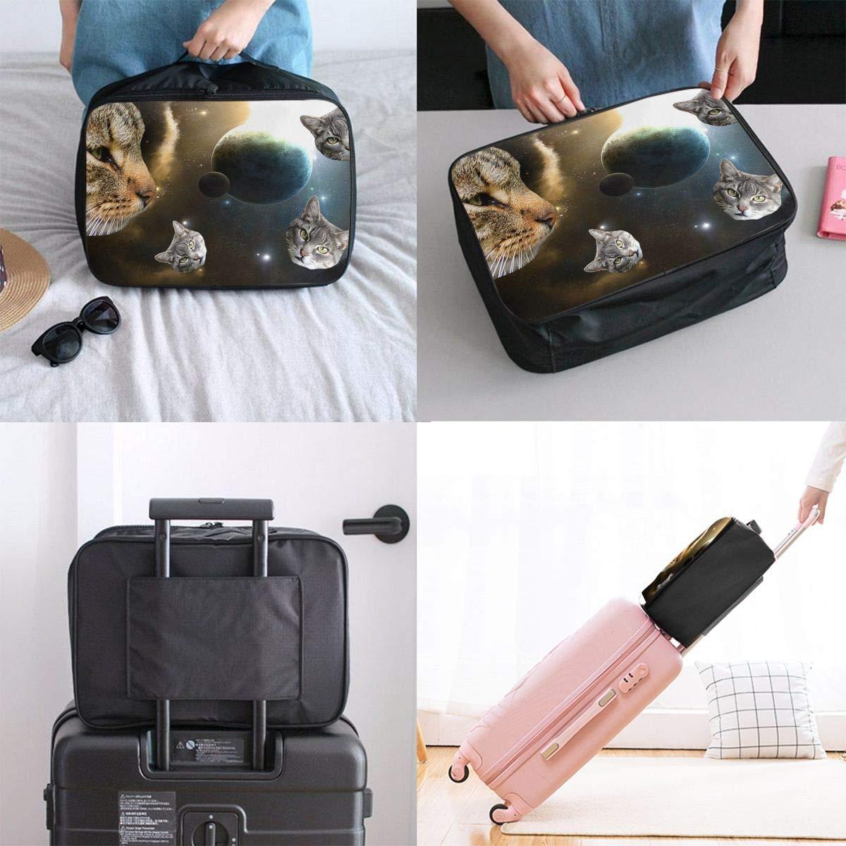 Travel Luggage Duffle Bag Lightweight Portable Handbag Star Cats Print Large Capacity Waterproof Foldable Storage Tote