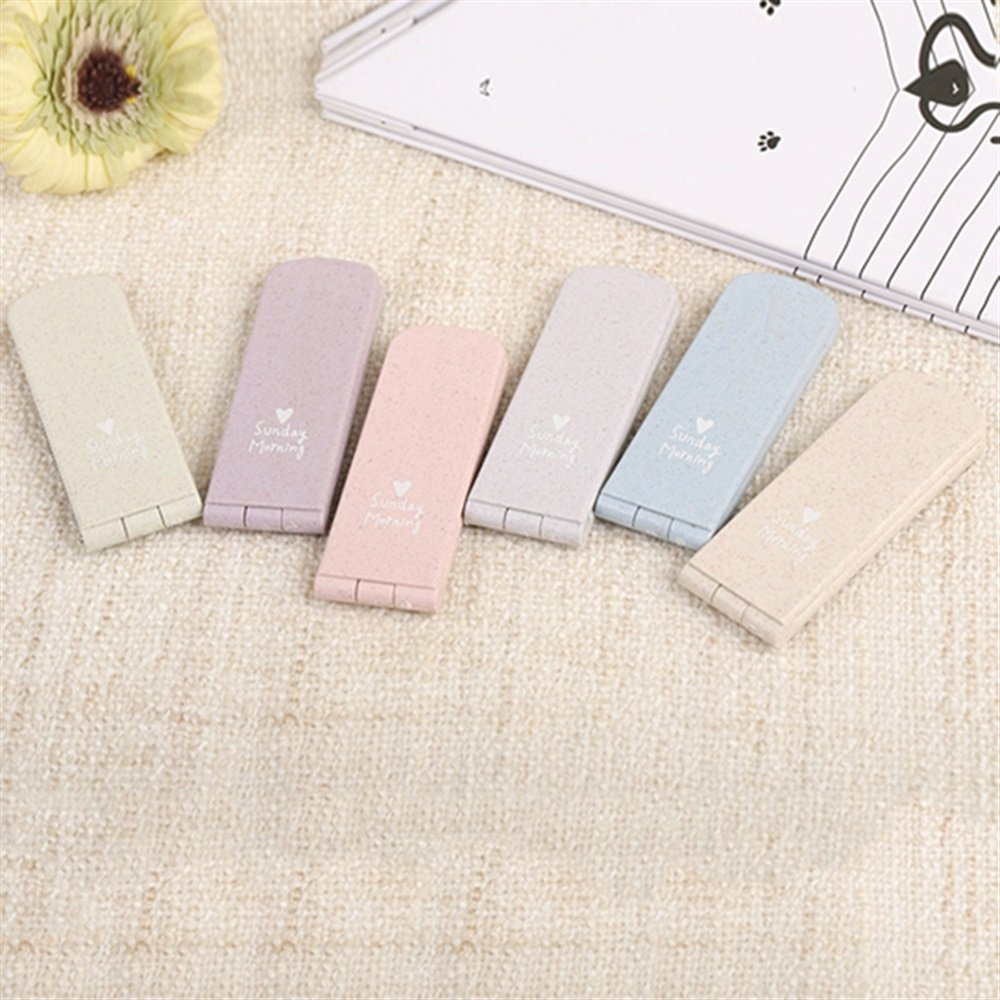 Childrens Mirror Mini Solid Color Random Pattern Small Glass Mirrors for Crafts Decoration Cosmetic Accessory