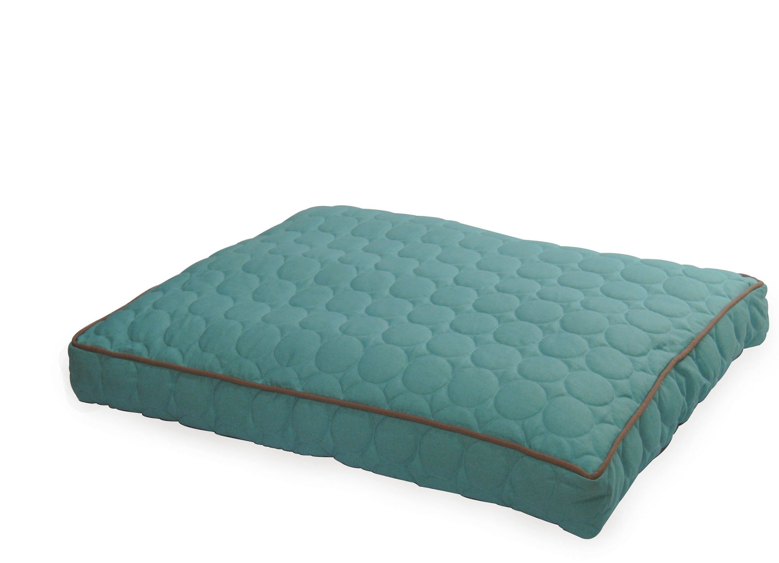 EZ Living Home P302P36TQ Circle Quilted Pillow Bed, Turquoise, M