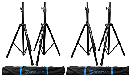 Amazon com: (2) Pairs Rockville Tripod DJ PA Speaker Stands +