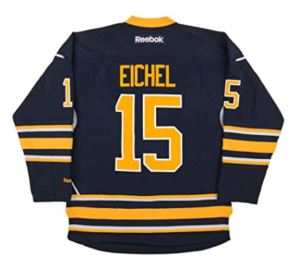 new style 43823 7f353 Reebok Jack Eichel Buffalo Sabres Premier Replica Home NHL Jersey Blue