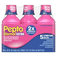 Pepto Bismol Liquid Ultra for Nausea, Heartburn, Indigestion, Upset Stomach, and...
