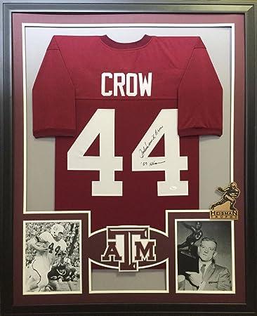 06d98119d40 John David Crow Texas A M Aggies Autograph Signed Custom Framed Jersey  Heisman Inscribed JSA Witnessed Certified