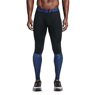 Nike Men's Pro Hypercool Max Training Tights-Black/Royal Blue-Medium