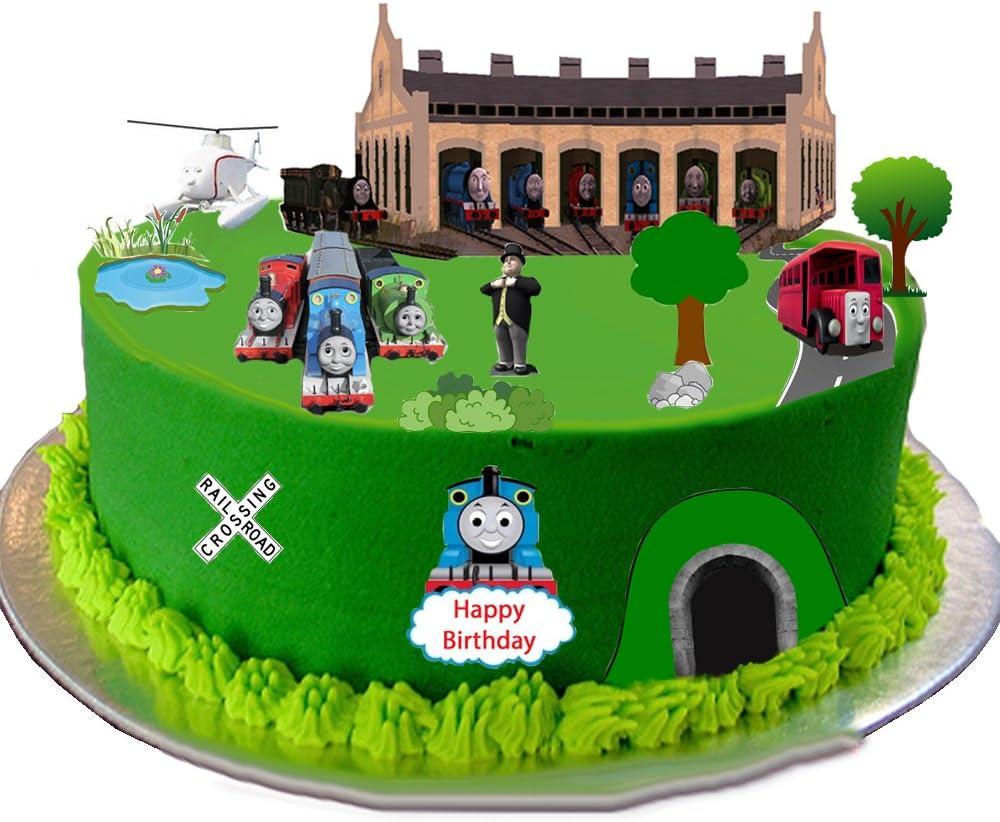 Strange Thomas The Tank Engine Stand Up Scene Premium Edible Wafer Paper Personalised Birthday Cards Sponlily Jamesorg