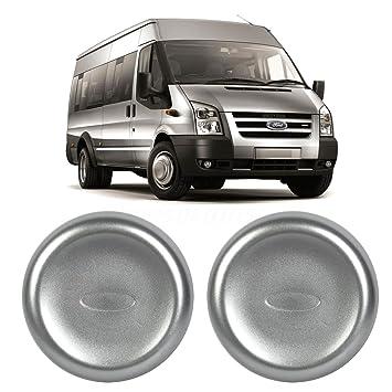 Un par de rueda delantera centro tapa tapacubos para Ford Transit MK6 MK7 trasera doble rueda: Amazon.es: Coche y moto