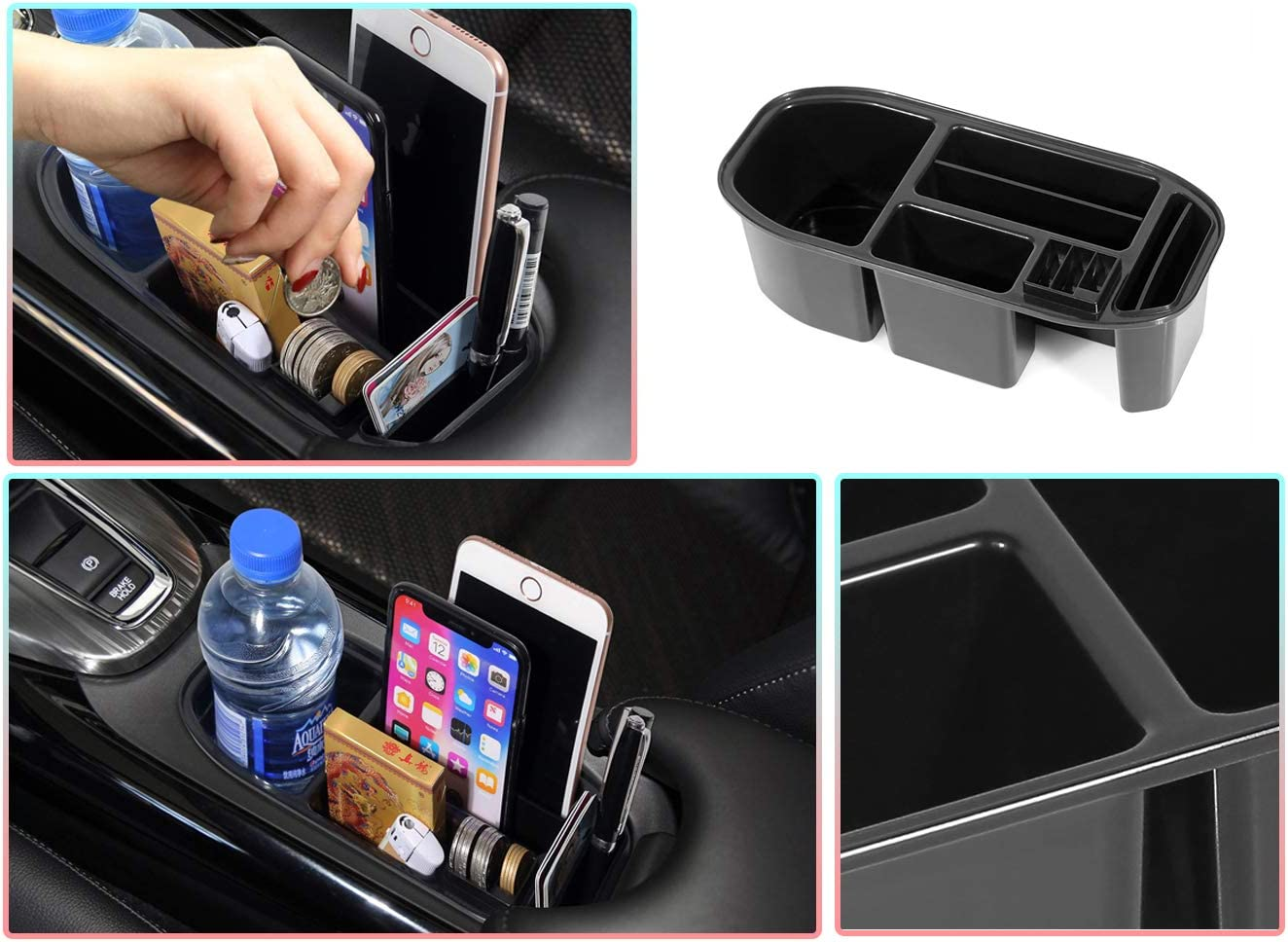 LFOTPP Custom Fit for HRV HR-V 2016-2020 Armrest Center Console Organizer Tray Accessories with Sunglasses Holder,Car Accessories Secondary Storage Box