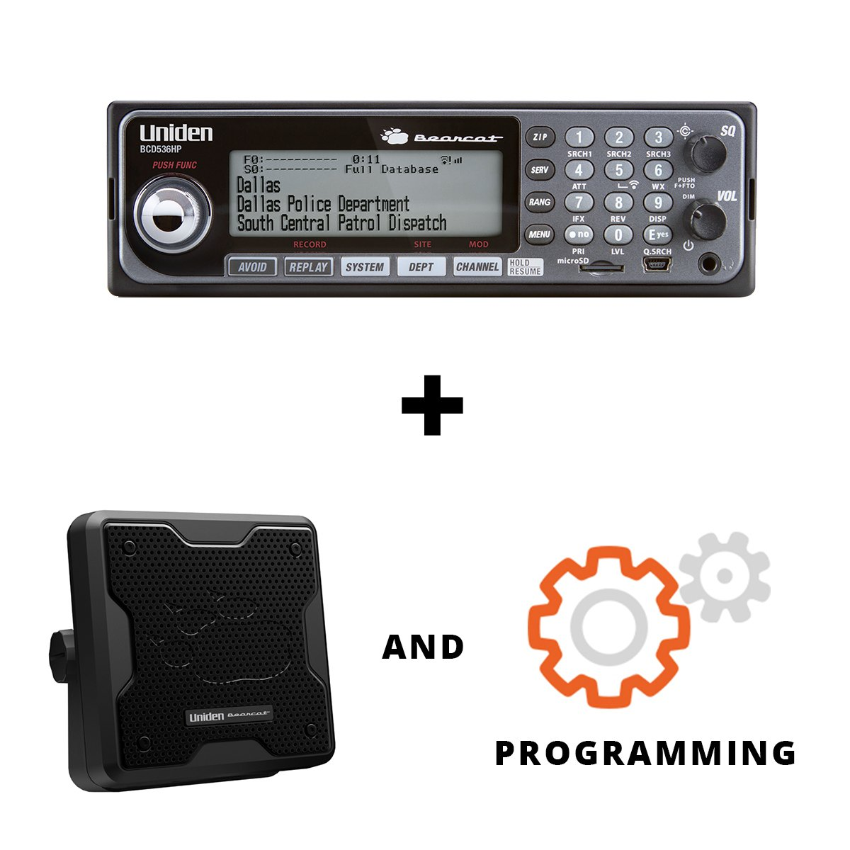 Amazon.com: Uniden BCD536HP PREPROGRAMMED Phase II Digital Scanner and 20  Watt Speaker Bundle: Home Audio & Theater