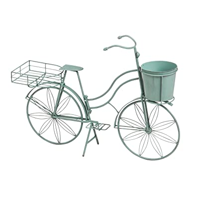Cape Craftsmen Shabby-Chic Vintage Teal Bicycle Planter Outdoor Safe Décor for The Chic Home or Patio: Home & Kitchen