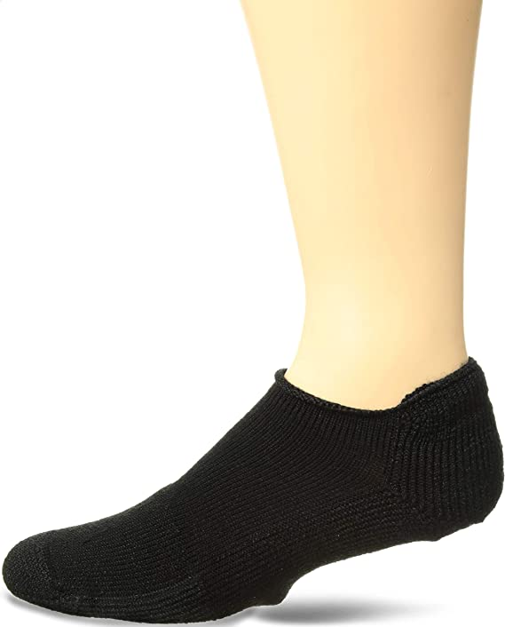 Thorlos T Max Cushion Tennis Rolltop Socks, Solid Black, Medium