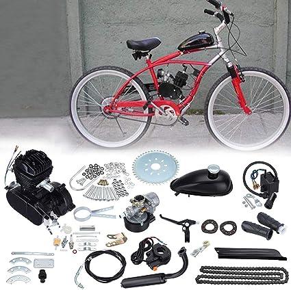 Samger Samger 2 tiempos Kit Motor de Bicicleta Gas Motor Kit de Conversión de Bicicleta (Negro, 50CC): Amazon.es: Coche y moto