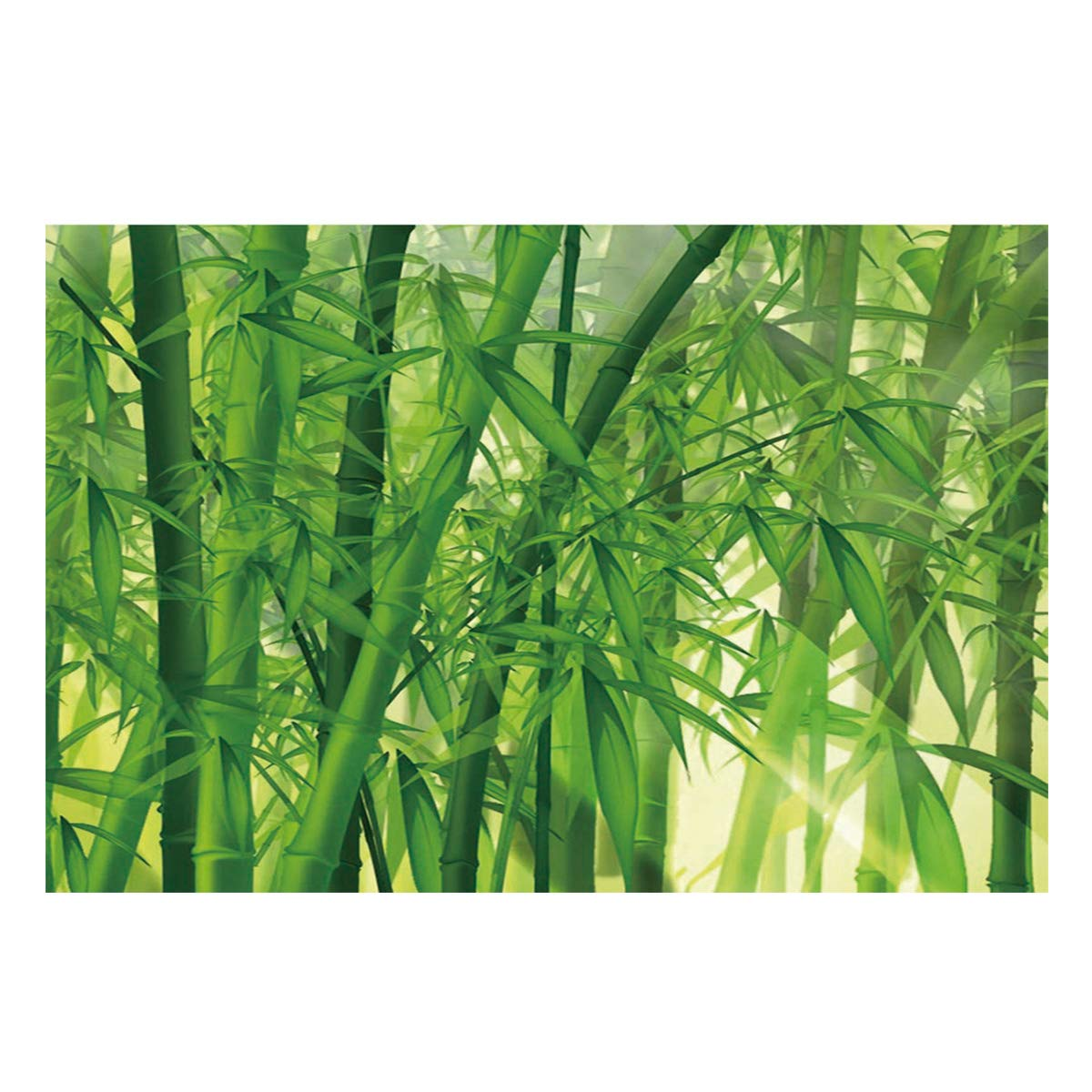 Fantasy Star Aquarium Background Bamboo Forest Fish Tank Wallpaper Easy to Apply and Remove PVC Sticker Pictures Poster Background Decoration 18.4'' x 48.8'' by Fantasy Star