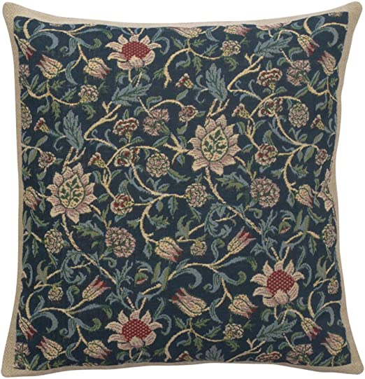 """20/"""" DECORATIVE TAPESTRY PILLOW COVER The Flowers EUROPEAN CUSHION ACCENT DECOR"""