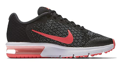 official photos 66679 3ae60 Nike Air MAX Sequent 2 (GS), Zapatillas de Running para Mujer, (Black/Racer  Pink/Anthracite/Cool Grey 005), 38.5 EU: Amazon.es: Zapatos y complementos