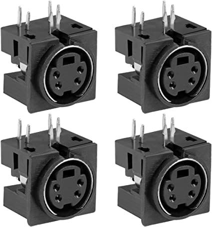4Pcs 6Pin DIN Female Socket Adapter DIN Plug Cable Connector Solder Audio UE
