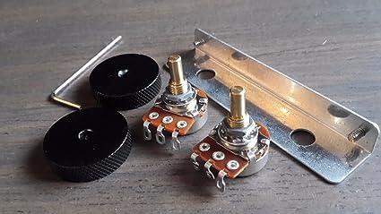 Jaguar Guitar Rhythm Roller Knobs /& Bracket//Mini Pots kit fits Fender