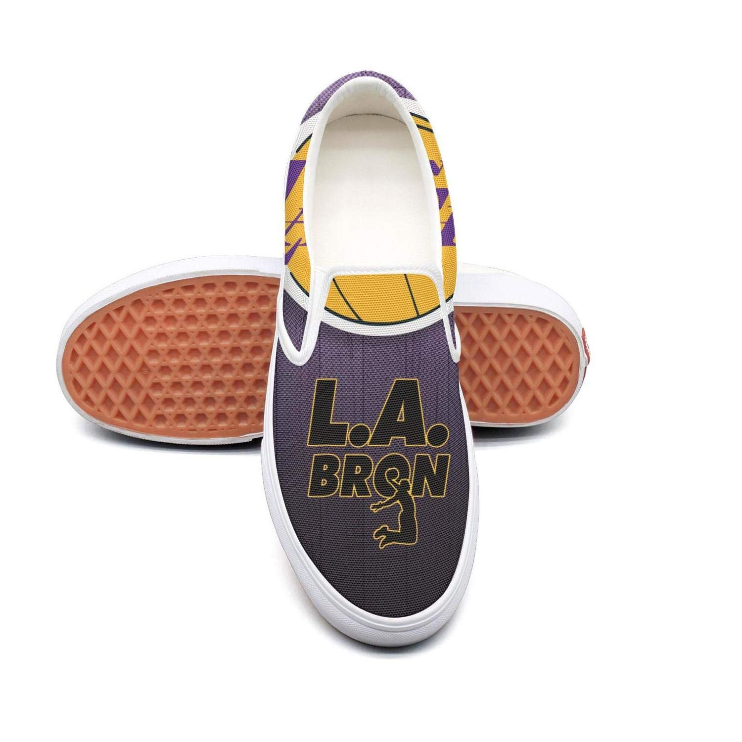 A-Jamee LA Purple Cool Basketball Mens Funny Canvas Slip-ONS Skate Shoes