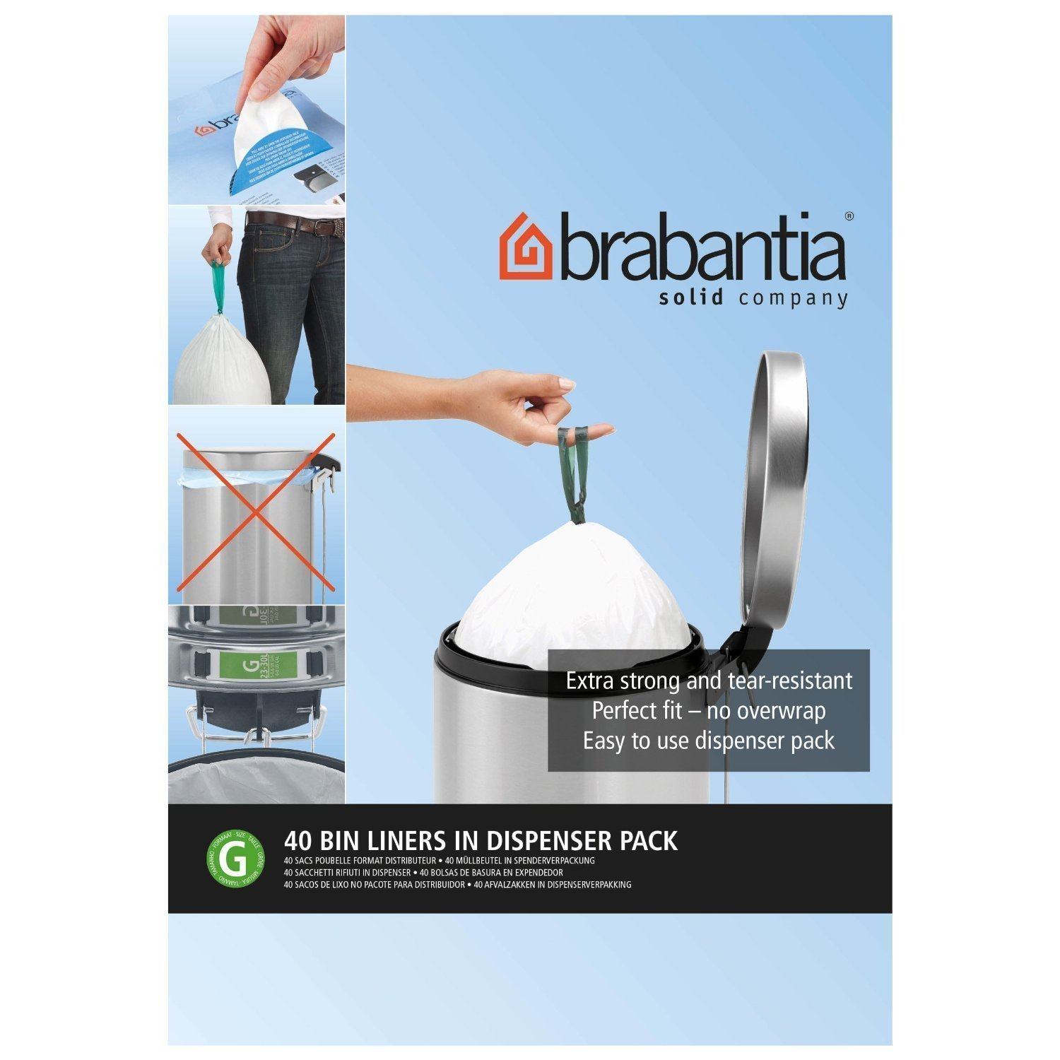 Amazon.com : Brabantia Smartfix Bin Liner Dispenser Pack ...