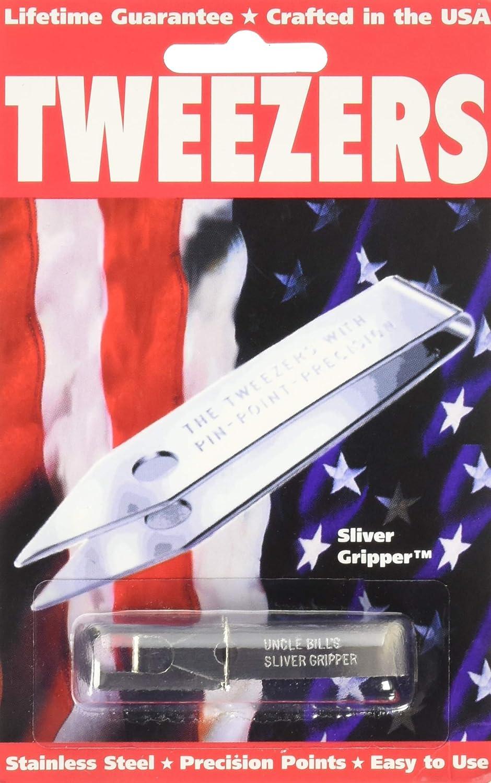 Sliver Gripper Black Oxide Uncle Bills Tweezers in a Recloseable Tube El Mar Inc.