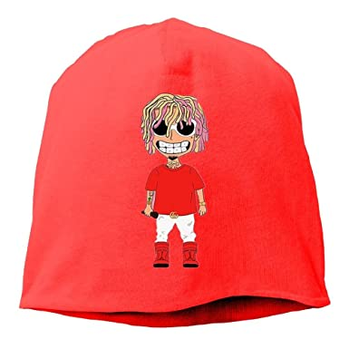 4c7ffddffd8 G-Gang Hats Unisex Smiling LIL Pump Gucci-Gang Cable Knit Skull Caps Thick