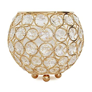 Vincigant Gold Crystal Votive Candle Holders For Home Decor Wedding Centerpieces Moroccan Candle Lantern Bowl Candle