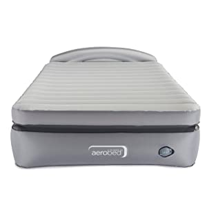 AeroBed Air Mattress with Built-in Pump & Headboard   Comfort Lock Laminated Air Bed