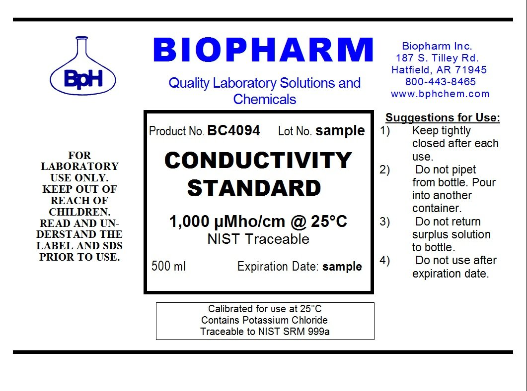 Conductivity Calibration Standard 3-Pack 500 ml Each 1000 US, 10,000 uS and 100,000 uS by Biopharm (Image #2)