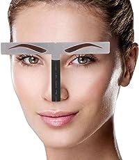 Modelos de cejas Plantilla de bricolaje, Stainess Ceja de acero Regla de medición Tatuaje Microblading Maquillaje permanente Herramienta de posicionamiento de oro Ratio