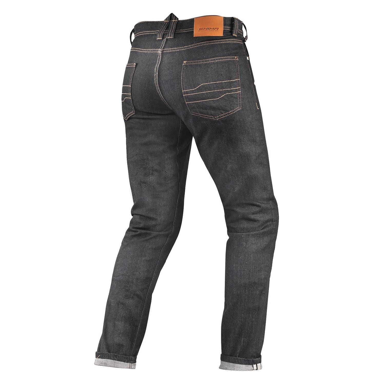 Long Shima TARMAC RAW DENIM Kevlar Herren Motorradhose Jeans Sas-Tec Mit Protektoren Blau W34//L32 Raw Denim