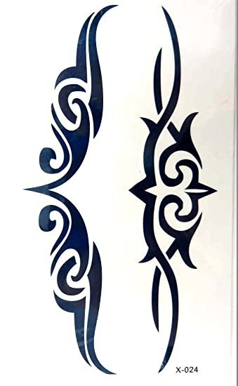 9228afcc2 Image Unavailable. Image not available for. Color: tribal tramp stamp  temporary tattoos wrist lower back