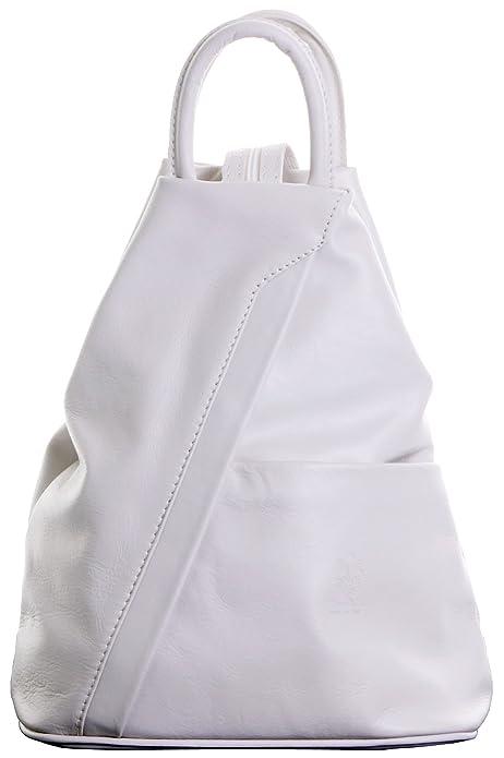 Napa suave italiano cuero crema mango bolso mochila mochila. Incluye bolsa protectora marca: Amazon.es: Zapatos y complementos