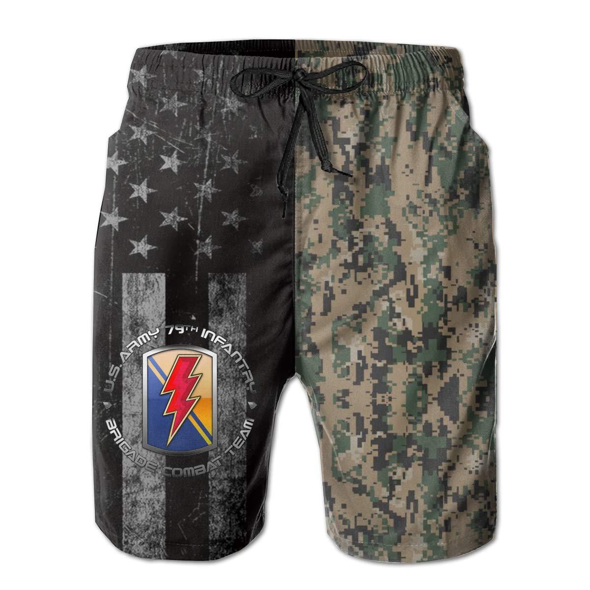 79th Infantry Brigade SSI Mens Swim Trunks Beach Short Board Shorts