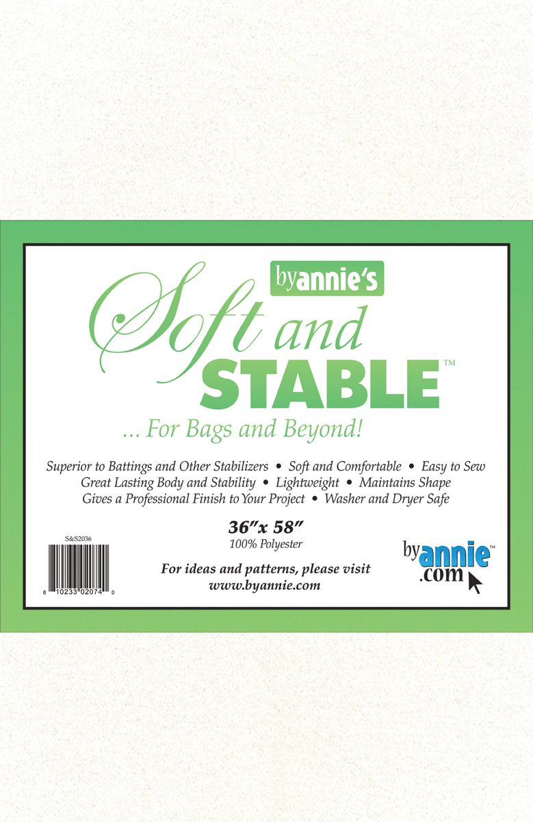 ByAnnie's Soft and Stable Fabric, 36 by 58-Inch, White PATTERNS BY ANNIE S&S2036