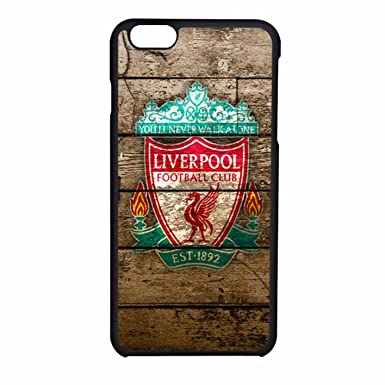 outlet store 8a3ff ce98b Liverpool Fc Logo On Wood iPhone 6 Case / iPhone 6s Case (Black ...