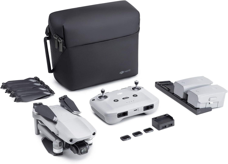 DJI Mavic Air 2 Pack Vuela Más Drone Quadcopter UAV con Cámara de 48MP 4K Video 1/2 Pulgadas CMOS Sensor de Cardán de 3 Ejes, Tiempo de Vuelo 34 min, ActiveTrack 3.0, Color Gris