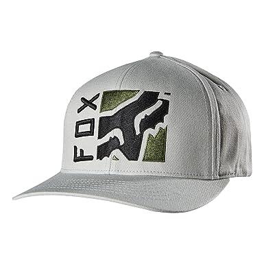 low priced 7a903 24992 Fox Men s Depth Flexfit Hat, Grey, Small Medium