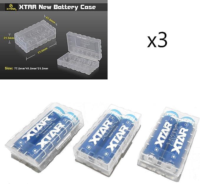 3 XTAR 18650 18350 18500 Caja de Almacenamiento de batería (Pilas no Incluidas) – Funda Protectora – Caja de Transporte – Caja de Viaje – Larga duración: Amazon.es: Electrónica