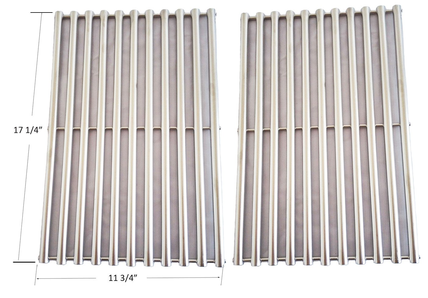 9930 Stainless Steel Cooking Grill Grid / Grate Replacement for Weber 9930 Ducane Lowes Model Grills, Set of 2 by BBQ funland
