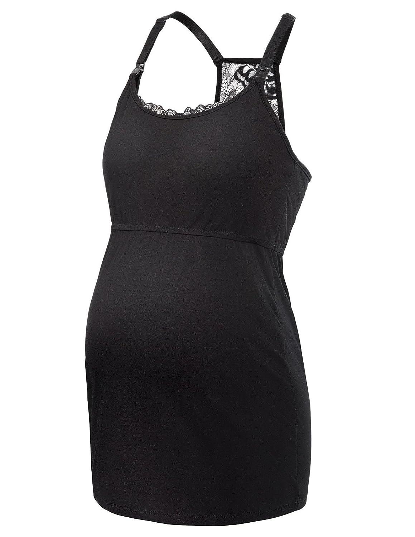 GRACE KARIN Débardeur Femme Grossesse en Coton sans Manches Style Simple Top CLAF1047