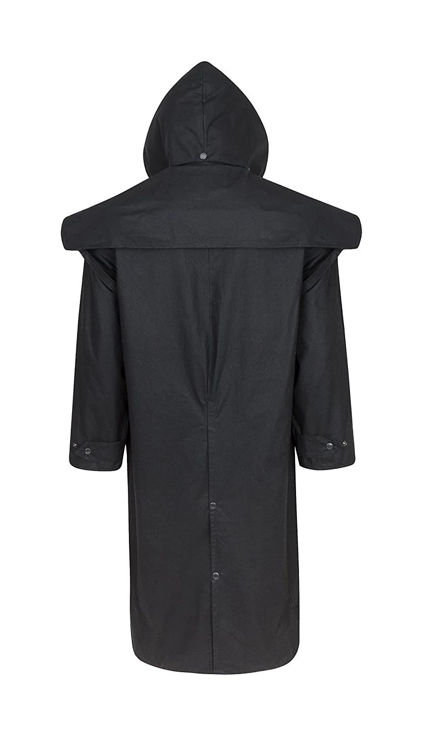 5be311fce Stockman Unisex Premium Quality Lined Waxed Cape Long Raincoat Made in UK:  Amazon.co.uk: Clothing