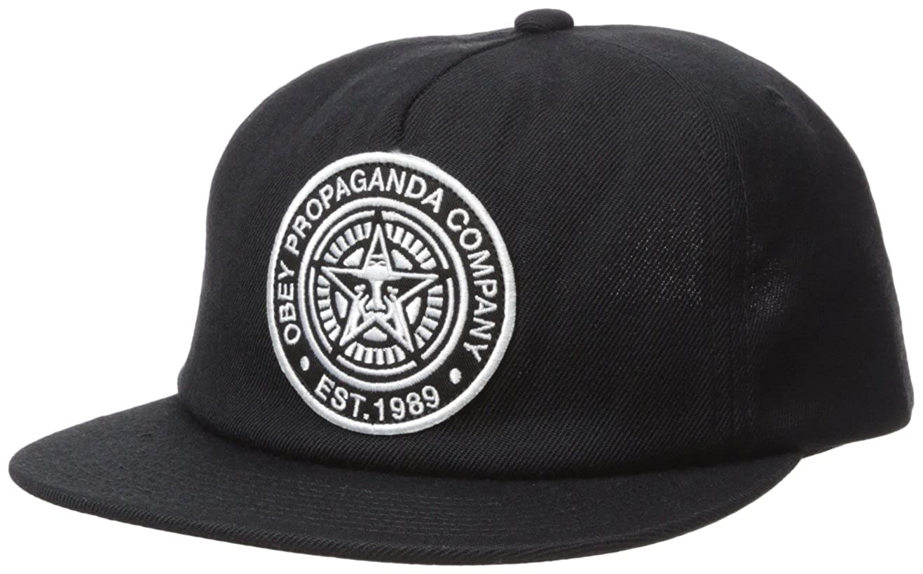 e0a5cabdef3961 Amazon.com: Obey Men's Established 89 Snapback Ii Low Unstructured Hat,  Black O/S: Clothing