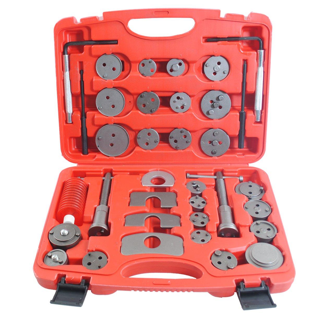 CCLIFE Repousse piston de frein - Coffret repousse piston frein (35pcs) - ré initialiser les pistons de frein - repousse piston frein universel