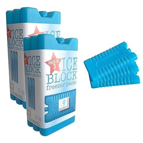 Paquete de 3 bloques de congelador – mantiene su comida o bebidas frescas en dí