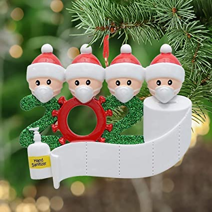 Amazon Com Christmas Ornaments Kit 2020 Diy Christmas Ornaments Kits For Xmas Tree Party Decorations Gift Personalized Family Members Family Customized Christmas Creative Decorating Set Family Of 2 3 4 5 Garden Outdoor