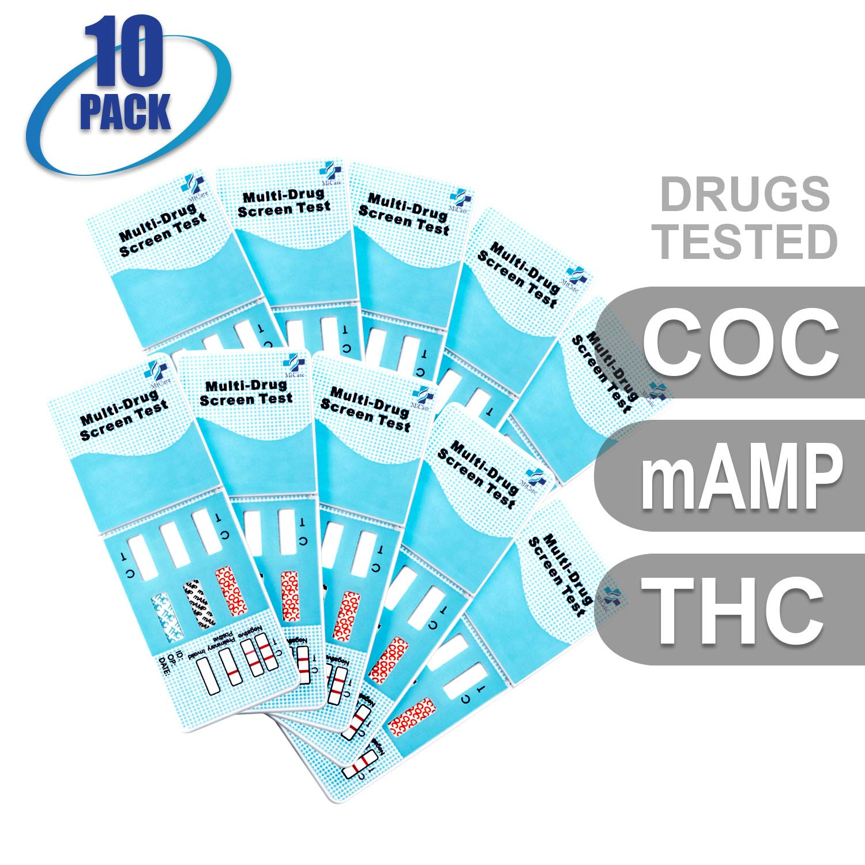 MiCare [10pk] - 3-Panel Urine Drug Test Card (COC/mAMP/THC) #MI-WDOA-234