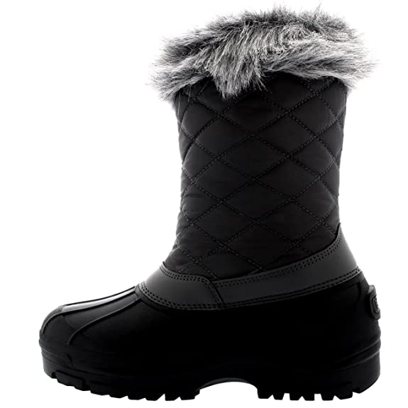 Polar Damen Toggle Ente Winter Thermal Gummi Laufsohle