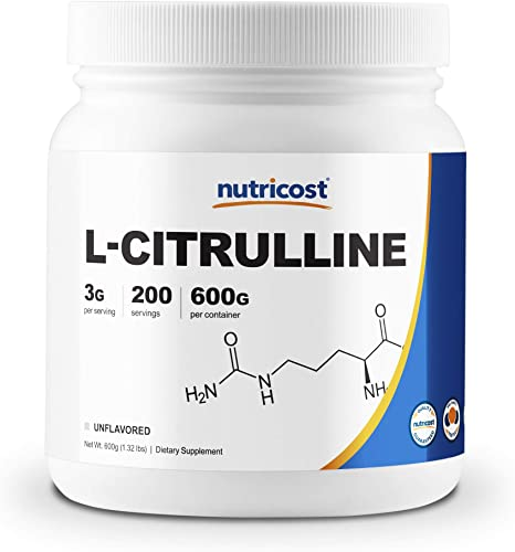 Nutricost Pure L-Citrulline Base Powder 600 Gram