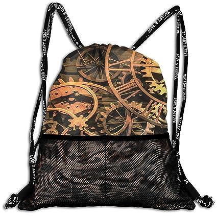 Amazon.com: LeYue Cool Steampunk Gears Mochila con cordón ...